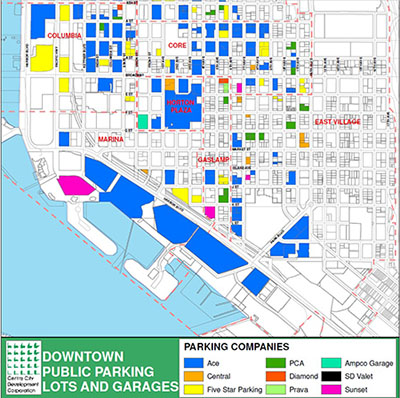 Downtown Public Parking Lots and Garages